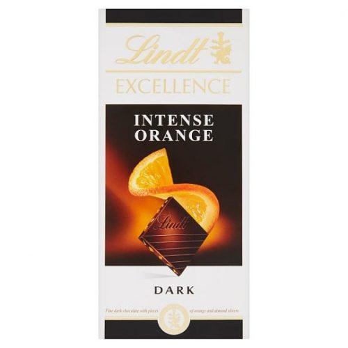 Lindt Excellence étcsokoládé tábla narancs és mandula 100g