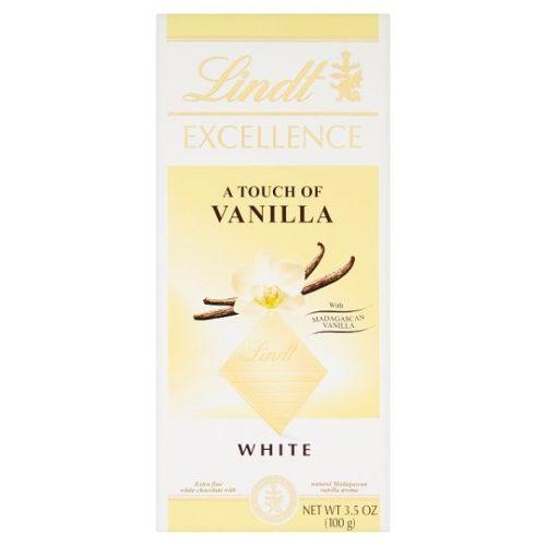 Lindt Excellence fehér csokoládé vanília ízzel 100g