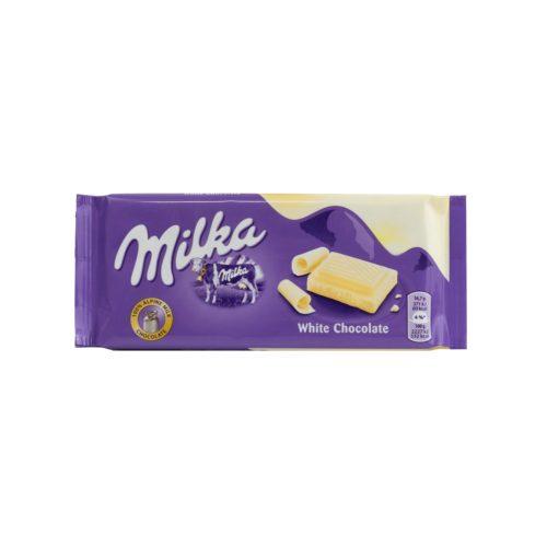 Milka táblás fehér csokoládé 100g