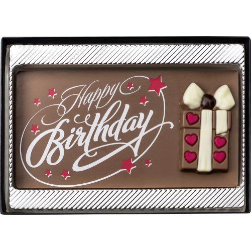 Weibler Happy Birthday tábla tejcsokoládé 75g