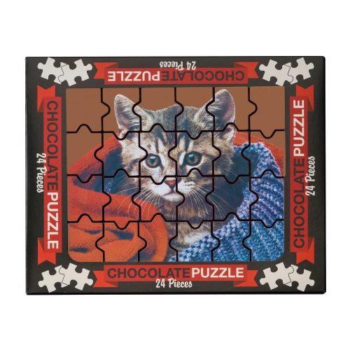 Weibler tejcsokoládé puzzle cicás 175g