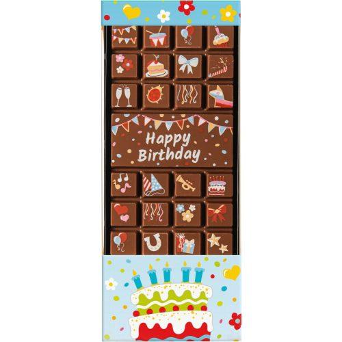 Weibler tejcsokoládé Happy Birthday tábla 70 g