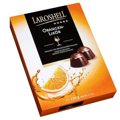 Laroshell Orangen-Likör narancslikőrös tejcsokoládé pralinék 150g