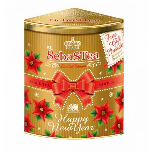 SebaSTea Happy New Year arany fémdobozos szálas tea 100g