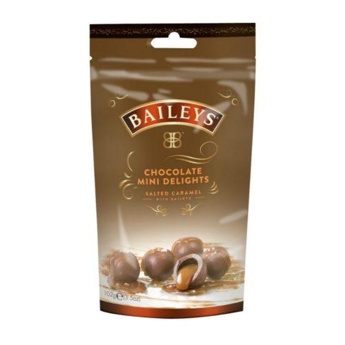 Baileys Mini Delights likőrös sós karamellel töltött csokoládé 102g