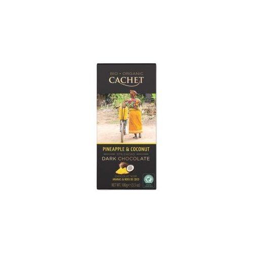 Cachet bio étcsokoládé tábla 57%-ananász és kókusz 100g 416083