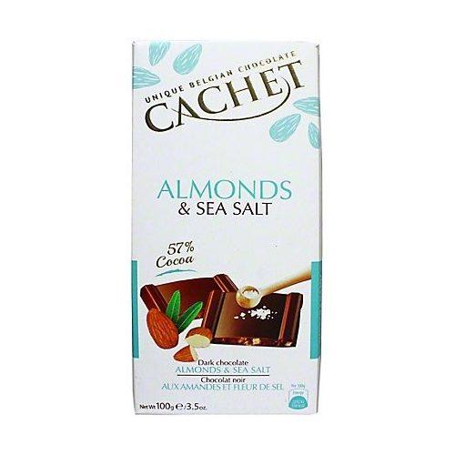 Cachet étcsokoládé tábla 57%-só és mandula 100g 416065