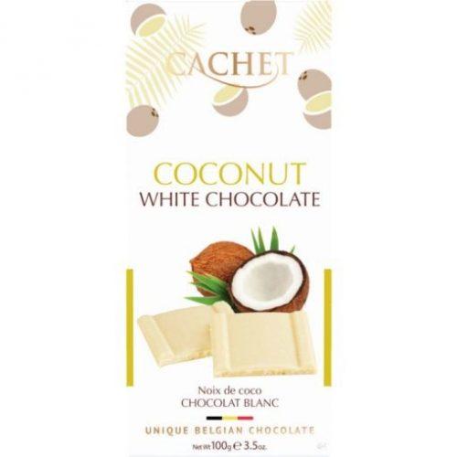 Cachet fehér csokoládé tábla- kókusz 100g 416000
