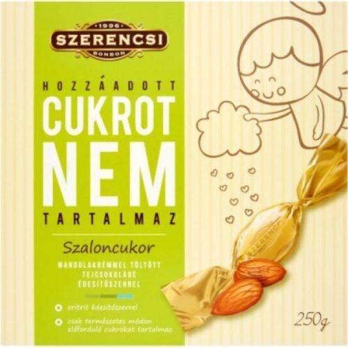 Szerencsi Szaloncukor HCNT mandulakrémes tejcsokoládé édesítőszerrel 250g