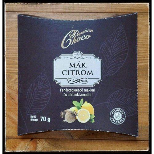 Premium choco mák-citrom 70g