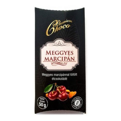 Premium choco meggyes marcipános étcsokoládé 50g