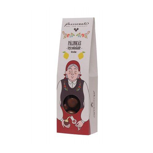 Passionate - Pálinkás tejcsokoládé bonbon birspálinkával 80g