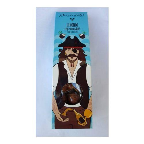 Passionate - Likőrös tejcsokoládé bonbon rum-kókusz ízben 80g