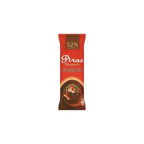 Piros Mogyorós étcsokoládé egész mogyoróval 80g