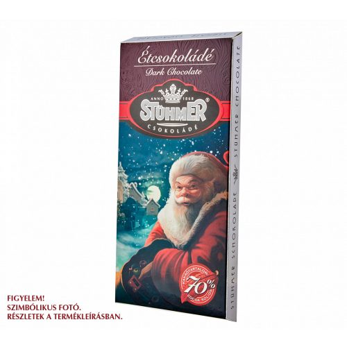 Stühmer táblás étcsokoládé karácsonyi design 100g