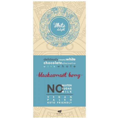 White Delight fehér tábla egész liofilizált feketeribizlivel, édesítőszerrel 80g