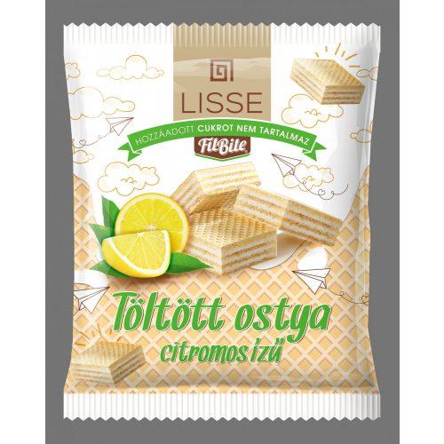 Lissé citromízű krémmel töltött ostya édesítőszerrel 180g