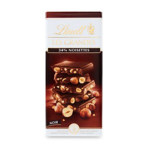 Lindt Les Grandes mogyorós étcsokoládé tábla 150g