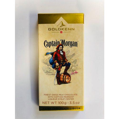 Goldkenn Captain Morgan Liqueur Bar alkoholos töltött csokoládé 100g