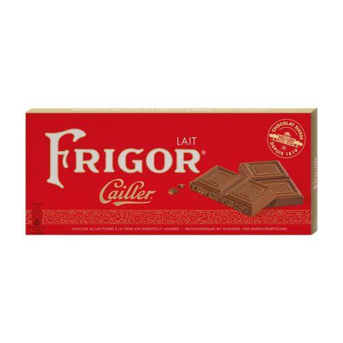 Cailler Frigor svájci táblás tejcsokoládé mogyoró és mandulakrémmel 100g