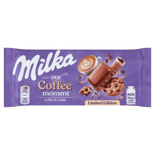 Milka Limitált kiadás Coffee moment kávékrémes csokoládédarabos kekszes 100 g