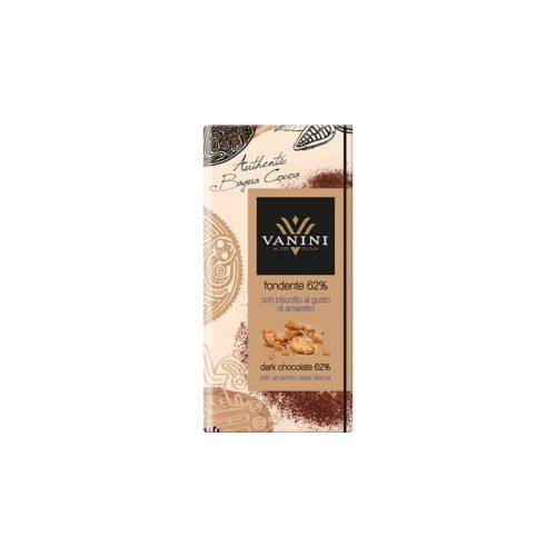 Vanini étcsokoládé tábla 62% amaretto keksz 100g