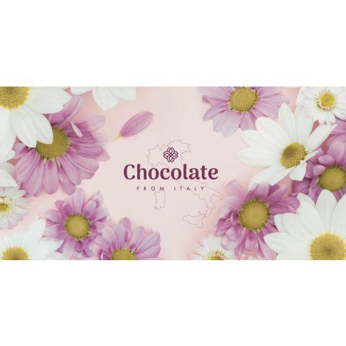 Chocolate from Italy tejcsokoládé mogyoródarabokkal margaréta design 100g