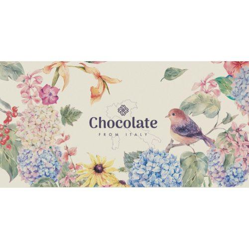 Chocolate from Italy tejcsokoládé giandujával hortenzia design 100g