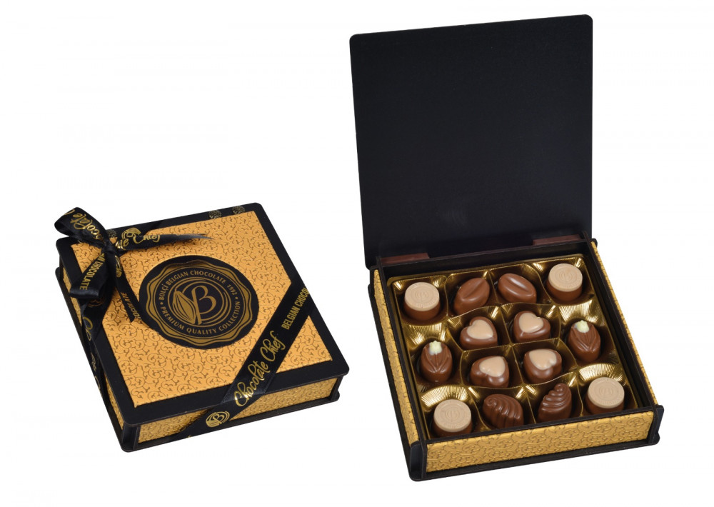 Bolci Wood Leather box gold 175g CH133 - Csoki és édesség we