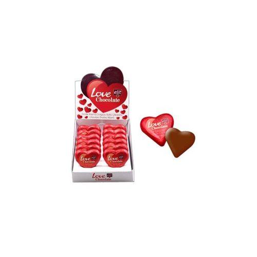Elit Mini Love chocolate mogyorókrémmel töltve 21g
