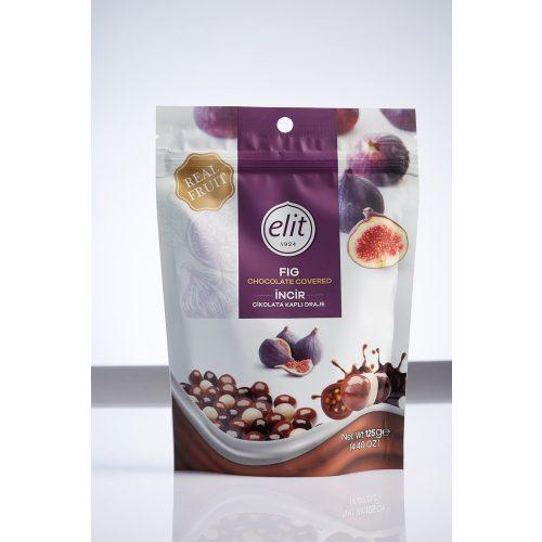 Elit Fruit Cube háromféle csokoládéval bevont füge drazsé 125g