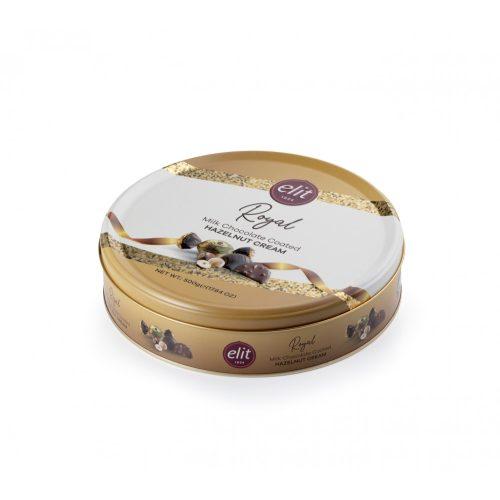 Elit Royal mogyorókrémes tejcsokoládék fémdobozban 500g