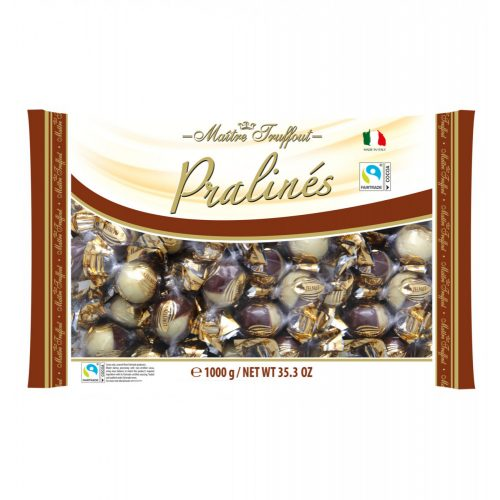 Maitre T. duo kétféle csokoládés mogyorókrémmel töltött golyó 1 kg