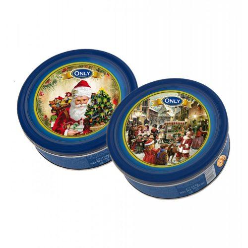 Only Nostalgic karácsonyi vajas keksz fémdobozban 454g