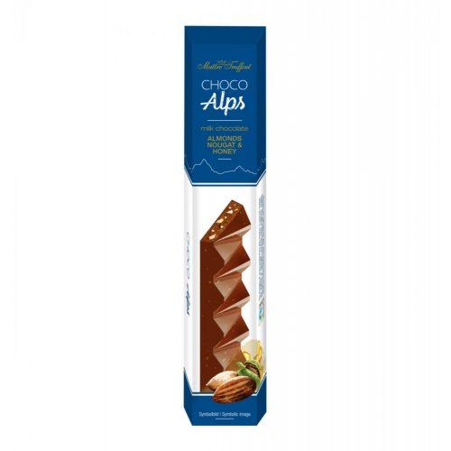 Maitre Truffout Alps - nugátkrémmel töltött tejcsokoládé mandulával és mézzel 90g