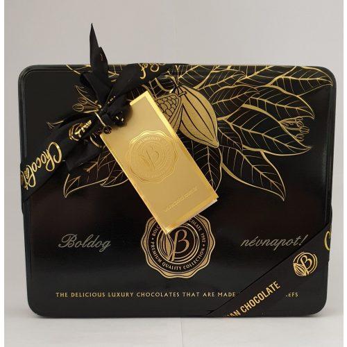Bolci Black and gold Gravírozott Boldog Névnapot 250g