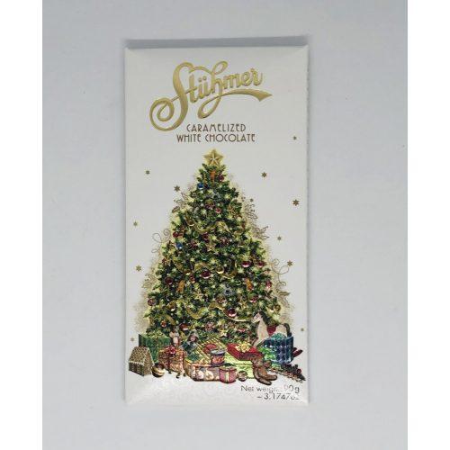 Stühmer táblás karamellizált fehércsokoládé karácsonyfa 90g