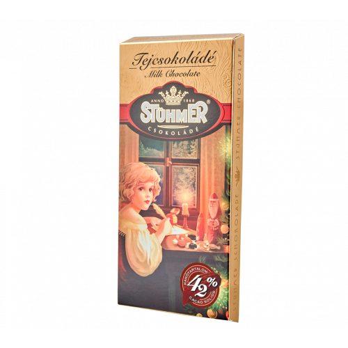 Stühmer táblás tejcsokoládés karácsonyi design 100g