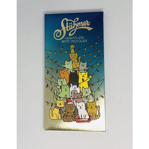 Stühmer táblás karamellizált fehércsokoládé karácsonyi macskás 90g