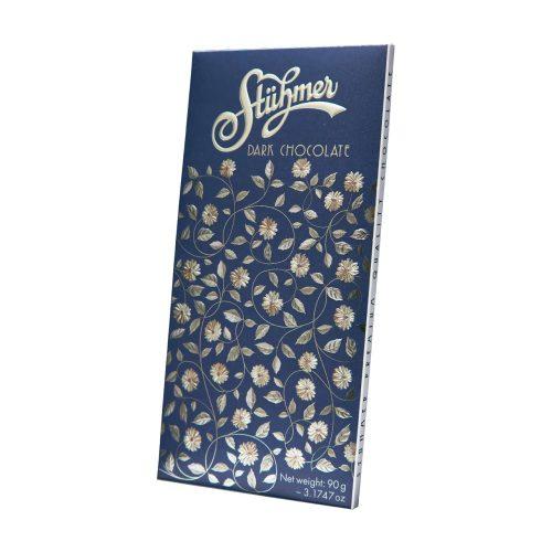 Stühmer táblás étcsokoládé kék virágos 90g