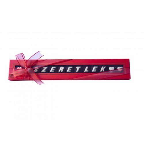 Bolci Letters Szeretlek feliratú csokoládé piros 78g