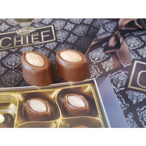 Bolci- Cappuccino töltött tejcsokoládé fehér csokoládé  lezárással