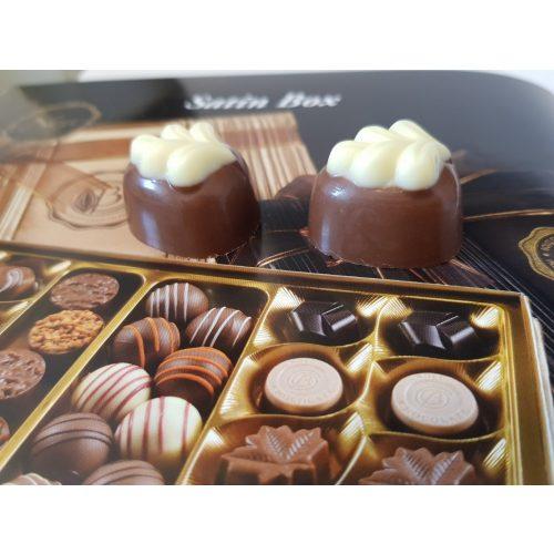 Bolci- Limon töltött tejcsokoládé fehér csokoládé díszítésse